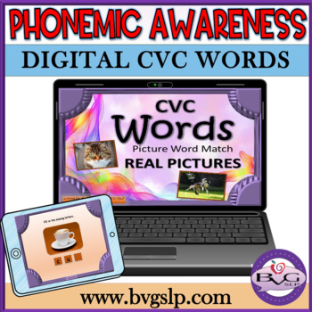 Phonics CVC Picture Word Match and More - Speech Telethera