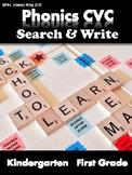 Phonics CVC Short Vowels -Search & Write
