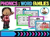 Phonics | CVC Word Family Sight Words | Word Family Cut and Paste