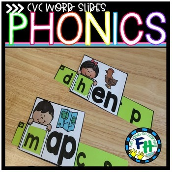 Phonics CVC Word Slides