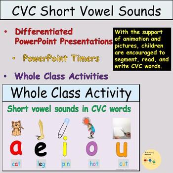 CVC Words Medial Vowels PowerPoint Presentations