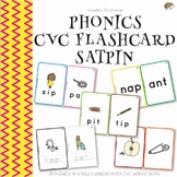Phonics CVC Words Flashcard SATPIN