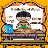 """Hot Dogs Eating Contest """"Middle Sound CVC Words"""""""