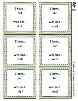 Phonics: CVC Words- I Have, Who Has?