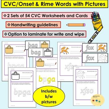 CVC Words Read Color Write Jumbled Words Activities/Worksheets