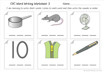 CVC Word Phonics Worksheet Pack
