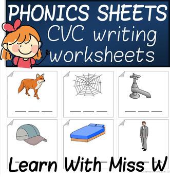 Phonics CVC Worksheet Pack