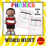 Phonics CVC and CVCe All Vowels