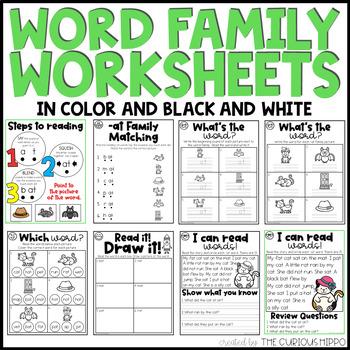 Phonics CVC -at Family FREEBIE!