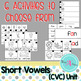 Word Work Stations - Easy to set up for CVC words.