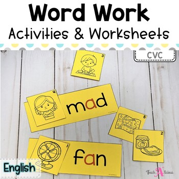 CVC Activities | Word Work Stations