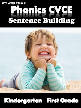 Phonics CVCE Long Vowels -Sentence Building (Kindergarten/First Grade)