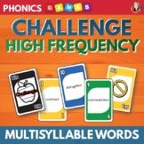 Phonics Card Game for Multi Syllable Words