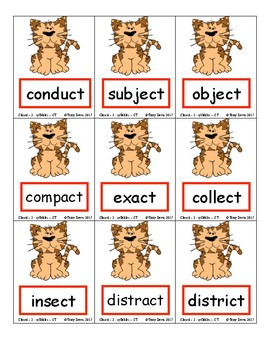 Phonics Card Games - 2 Closed Syllables (Deck 5)