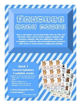 Phonics Card Games - Closed Syllables