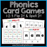 Phonics Card Games - Flip It! & Spell it!
