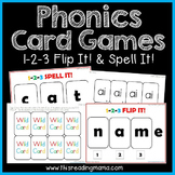 Phonics Card Games - Flip It! & Spell it!
