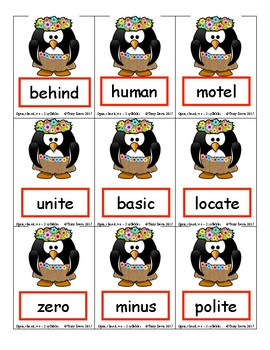 Phonics Card Games - Open Syllables (Deck 7)