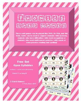 Phonics Card Games - Vowel Y as long E