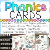 Phonics Cards BUNDLE | 10 spelling patterns - 4 designs