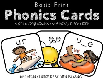 Phonics Cards: Basic Print Version