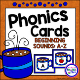 Phonics Cards Beginning Sounds A-Z Hot Cocoa