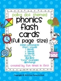 Phonics Cards~ Bright Polka Dot Theme (Full Size Cards)