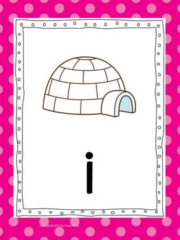 Phonics Cards~ Bright Polka Dot Theme (Full Size Cards)