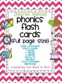 Phonics Cards~ Chevron Theme (Full Size Cards)
