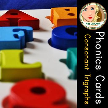 Phonics Cards - Consonant Trigraphs - Word Work Center
