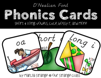 Phonics Cards: D'Nealian Version