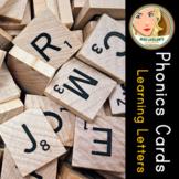 BUNDLE: Phonics Cards: Learning Letters (Consonants, Short