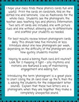 Phonics Flash Cards - Level 1