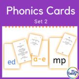 Phonics Cards Set 2   Blends, Long Vowel Magic E, and MORE