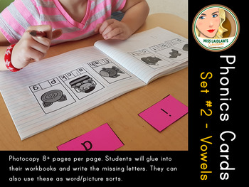 Phonics Cards Set 2 - Short and Long Vowels