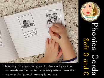 Phonics Cards - Soft G and C - Word Work Center