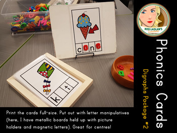 Phonics Cards - Digraphs (sh, th, ch, ng) - Word Work Center