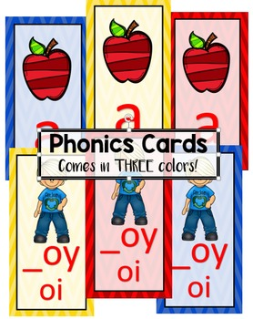 Journey's Phonics Cards - Comes in THREE Colors