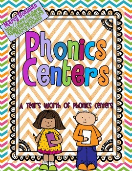 Phonics Centers: A Year's Worth of Centers for Literacy Groups