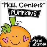 Math Centers Second Grade - Pumpkins