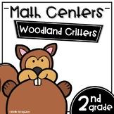 Math Centers Second Grade - Woodland Critters