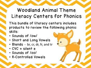 Woodland Animal Theme Phonics Centers
