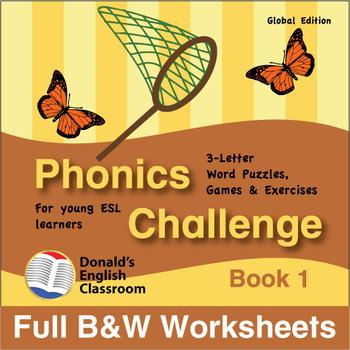 Phonics Challenge, Book 1 - Full BW Textbook