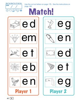 ESL Phonics Challenge, Book 1 - Page Pack 2