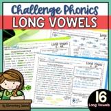 Challenge Phonics LONG VOWELS worksheets