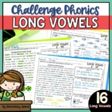 Challenge Phonics Worksheets | LONG VOWELS worksheets | Vo