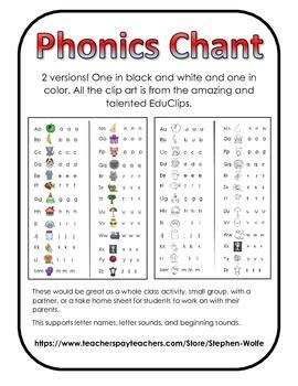 Phonics Chant