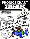 Phonics Chart 6 Puzzle (Bonus Coloring Sheet) (A Beka) (Abeka)