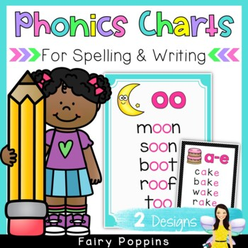 Phonics Charts For Writing & Spelling (First and Second Grade)