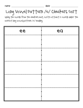 Phonics Checkers Center Pack